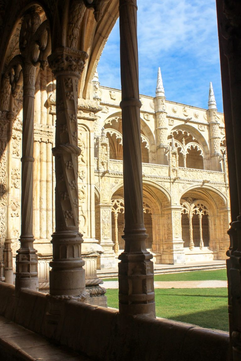 Visit the lavishly beautiful Jeronimos Monastery in Lisbon. One of the Seven Wonders of Portugal and an UNESCO World Heritage site.
