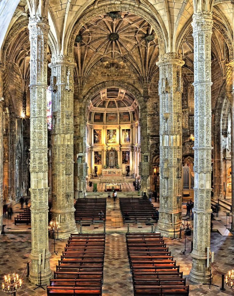 The Church of Santa Maria within the Jerónimos Monastery in Lisbon Portugal