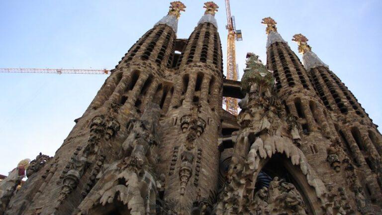 The Sagrada Familia landmark in Barcelona, Spain