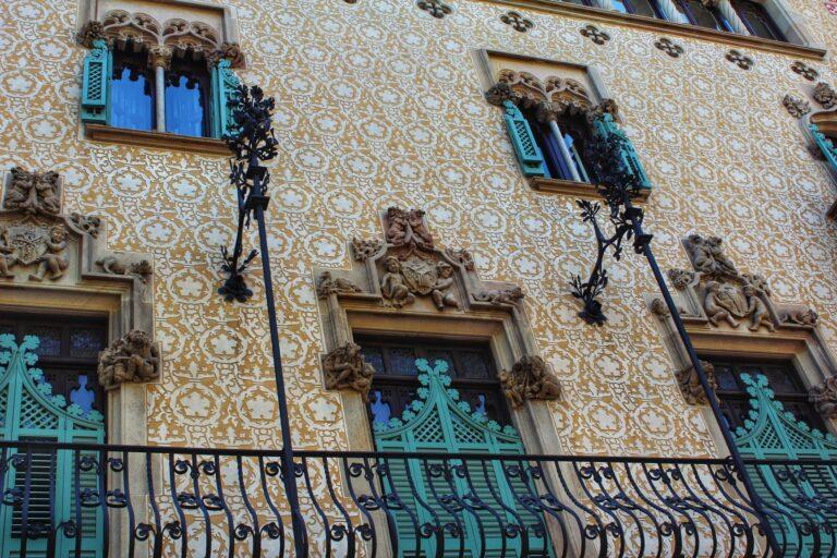The Gaudi architecture in Barcelona, Spain