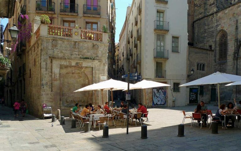The best part of Spain's year round warm temperatures? Outdoor eating in quiet courtyards