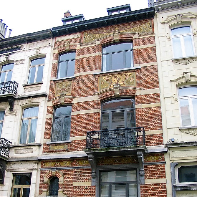 Designed by architect Paul Hanker in 1893 for his own personal residence, known as the Hanker House. Brussels, Belgium