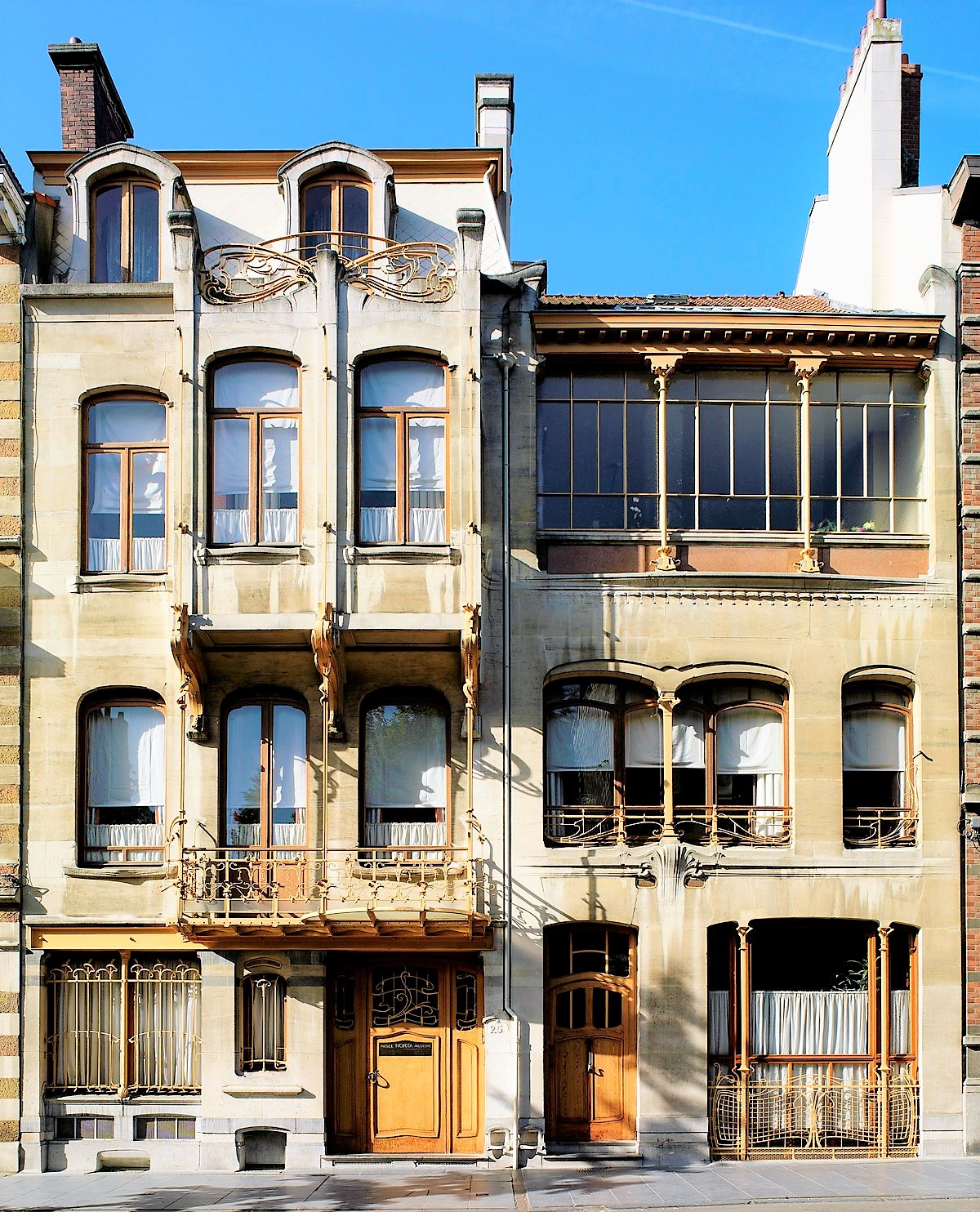 The Horta Museum was designed by Victor Horta in 1901, Brussels Belgium. Art Nouveau walking tour.
