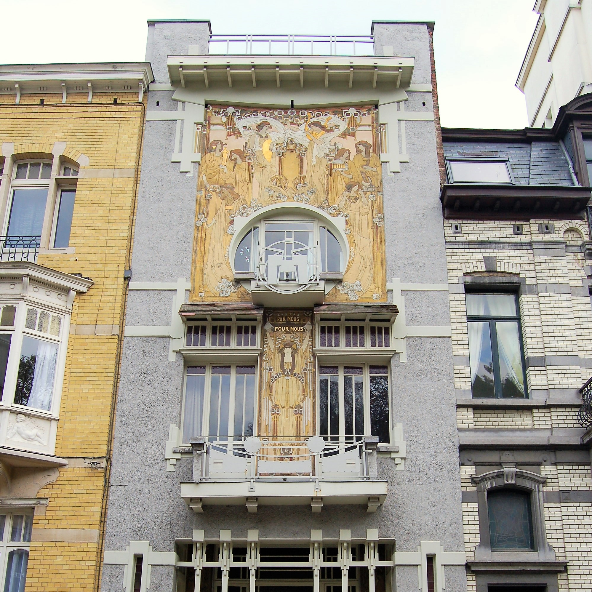 Designed by Paul Cauchie in 1905 for his personal residence, known as the Cauchie House. Brussels, Belgium