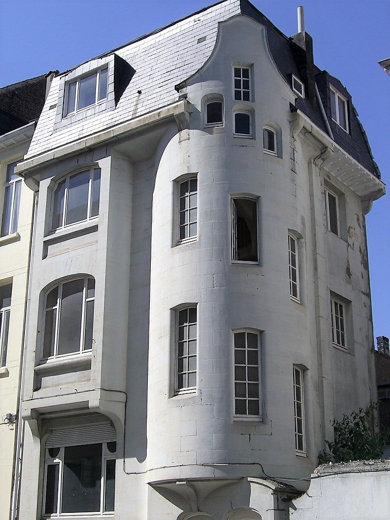 Brussels, Belgium - Art Nouveau walking tour.Designed by architect Octave van Rysselberghe in 1912 for his personal residence.