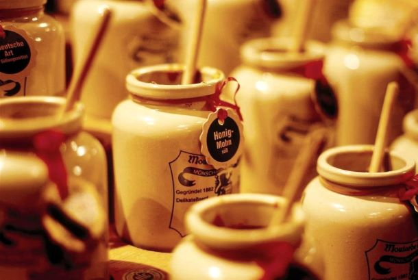 Be sure to visit the mustard mill and store while in Monschau, Germany